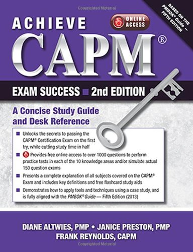 Achieve CAPM Exam Success: A Concise Study Guide and Desk Reference (Diane Preston compare prices)