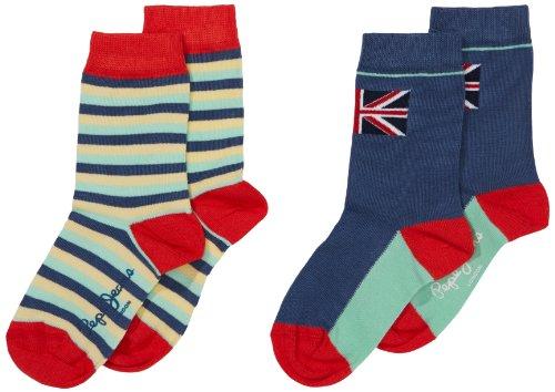 Pepe Jeans Jungen Socken BOYS SOCK PACK 2, 2er Pack, Gr. 176 (Herstellergröße: XL), Mehrfarbig (MULTI 0AA)