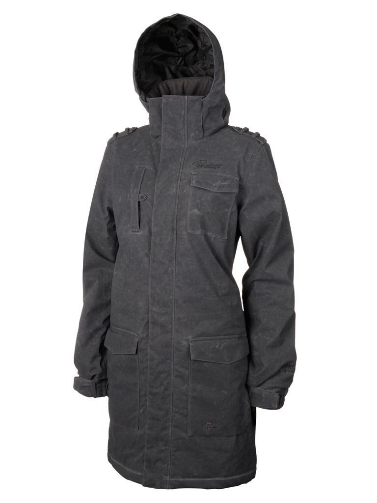 Fling Protest Damen ski Jacke S  - - smoke