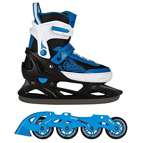 SPOKEY-SNOOKI-Patins--roues-alignes-Patins-de-glace-avec-rail-remplaables-Enfants-Femmes-Hommes-Inline-ABEC5-Carbon-Lames-acier-inoxydable-29-32-33-36-37-43