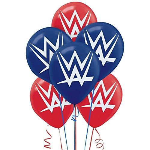 Amscan Grand Slammin' WWE Printed Birthday Party Latex Balloons Decoration (6 Pack), 12
