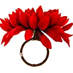 Red Mum Napkin Ring