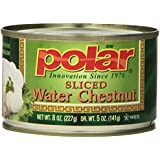 MW Polar Water Chestnuts, Sliced, 8-Ounce (Pack of 12)