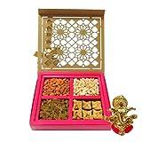 Chocholik Special Dry Fruit And Baklava Designer Gift Box With Ganesha Idol - Chocholik Belgium Chocolates