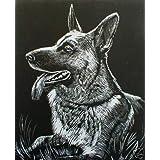 "WASO-Hobby - 4er Scrapy Kratzbilder Set - Hunde Motive / Silber *Gro�*von ""WASO-Hobby"""