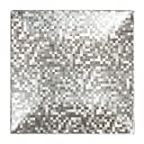 Charge It By Jay Square Silver Mosaic Charger Plates, Set Of 4