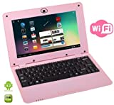 Best Selling Netbooks:  WolVol PINK 10 inch Laptop with WIFI and Camera (Android 4.2, Dual Core Processor, 8 GB HD)