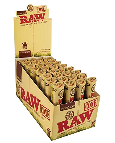192 Raw ORGANIC Cones Pre-Rolled Rolling Papers (Full Case), Raw ORGANIC Natural Unrefined Cones Rolling Paper 1.25 Size, 32 Packs of 6 Cones + Beamer Smoke Limited Edition Sticker (Raw Cones Case compare prices)