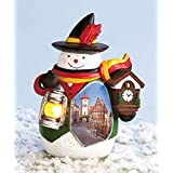 International Snowman Collectible With Light Up Lantern - Germany