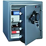 SentrySafe SFW123GDC 1.23 Cubic Feet Electronic Fire-Safe, Gun Metal Grey