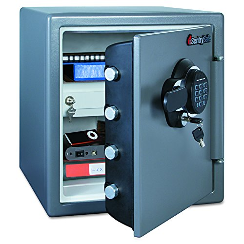 SentrySafe SFW123GDC 1.23 Cubic Feet Electronic Fire-Safe, Gun Metal Grey (Sentry Safe Digital compare prices)