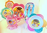 Disney Doc McStuffin Childrens Meal Time Set Includes Plate, Bowl, Cup, Flatware Set
