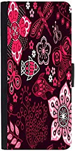 Snoogg Colorful Floral Seamless Pattern In Cartoon Style Seamless Pattern Designer Protective Phone Flip Case Cover For Apple Iphone 6