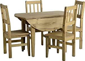 Corona Drop Leaf Dining Table With 4 Chairs Set Kitchen