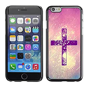 Omega Covers - Snap on Hard Back Case Cover Shell FOR Iphone 6/6S (4.7 INCH) - Christ Snow Pink Purple God Religious