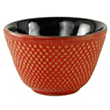 Red Hobnail Tetsubin Tea Cup