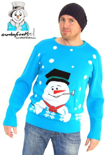 Mens Christmas Jumper £40 - As Seen on TV- Snowman XLARGE