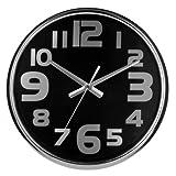 Acquista Premiere Housewares 2200604 Orologio da Parete Acciaio Inox, 38x38x5 cm, Nero