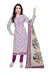 Pandadi Creation Women's Cotton Unstitched Salwar Suit Pics Dress Material with Cotton Dupatta