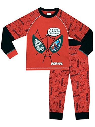 uomo-ragno-pigiama-a-maniche-lunga-per-ragazzi-di-spiderman-si-illumina-al-buio-6-7-anni