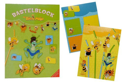 Bastelblock die Biene Maja - Bastelbuch Set für Kinderzimmer Deko zum Basteln Flip Willi Tier Kinder