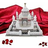 "DEKOR WORLD White Marble Taj Mahal(7""X7""White)"