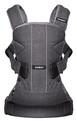 BABYBJORN Baby Carrier One - Denim Gray/Gray, Cotton Mix