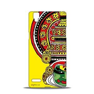 ezyPRNT Kathakali Beautiful Premium PC Plastic Mobile Back Case Cover for Oppo F1