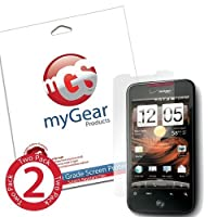 myGear Products DiamondDust Screen Protector Film for HTC Droid Incredible 2 & S - (2 Pack) Diamond