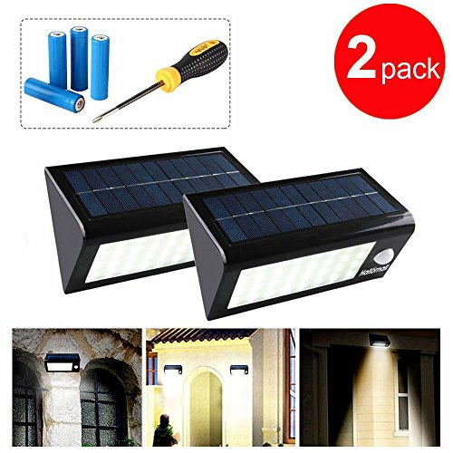 400 Lumens Outdoor Solar Lights Motion Sensor Security,