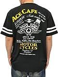 (エース カフェ ロンドン) ACE CAF? LONDON大きいサイズ プリント チェーンステッチ ワッペン付 半袖 Tシャツ