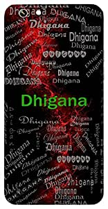 Dhigana (Masti) Name & Sign Printed All over customize & Personalized!! Protective back cover for your Smart Phone : Samsung Galaxy S4mini / i9190