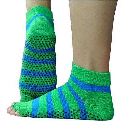 YOKIRIN® Baumwolle mit Massage Punkt Drain Zehe Yoga Socken Deep Purple