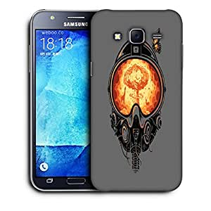 Snoogg Astronaut Mask Orange Designer Protective Back Case Cover For SAMSUNG GALAXY J7