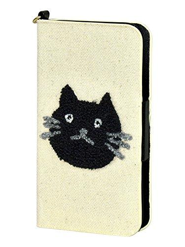 [プレックス]PREX iPhone6S 対応 手帳型 スマホケース ねこどっと×サガラ刺繍 ZP-D0434A アイボリー