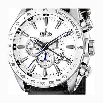 Festina - F16489 1 - Montre Homme - Quartz - Chronographe - Bracelet Cuir  Noir - weesdfgbv f18c17681b58