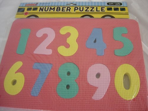 Numbers Floor Puzzle by Educational Toys - Teaches numbers from 0 to 9 - will ship in assorted colors by Greenbrier