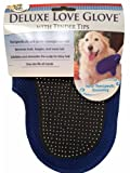 Pet Select Deluxe Love Glove with Tender Tip for Dogs Grooming Brush