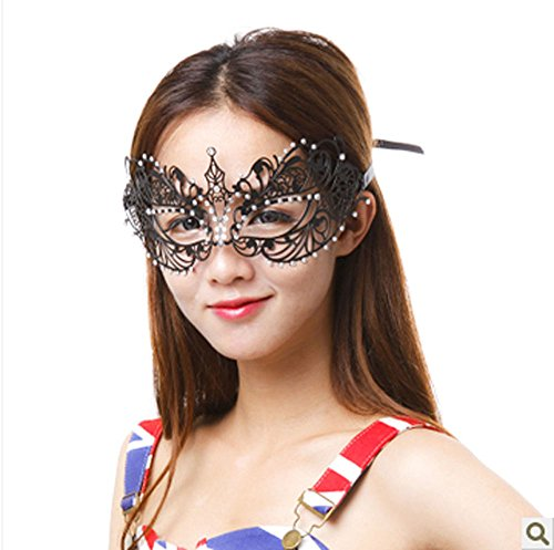 CIShop Deluxe Beauty Laser Cut Metal Venetian Masquerade Mask Halloween