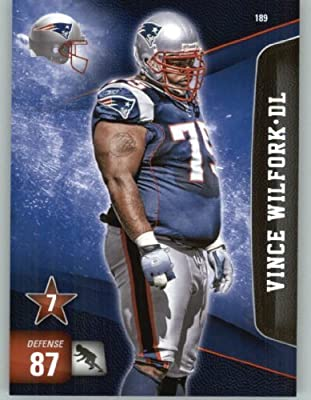 2011 Panini Adrenalyn XL Football Card #189 Vince Wilfork - New England Patriots - NFL Trading Card
