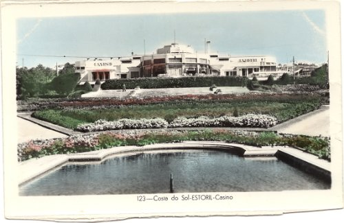 1930s Vintage Postcard Casino - Costa do Sol
