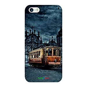 HomeSoGood The Kolkata Tram Multicolor Case For iPhone 5 / 5S (Back Cover)