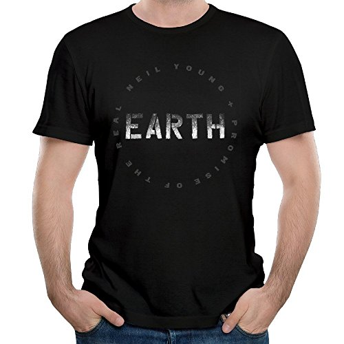T&Tat Men's Neil Young EARTH Tour 2016 Logo Short Sleeve T-shirt Large