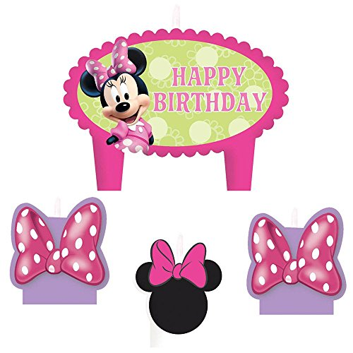 "Minnie Mouse ""Bow-Tique"" Molded Cake Candle Set (4pc) - 1"