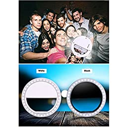DAPOWA Cellphone LED Selfie Ring Light 36 LED Universal Ring Mounted for iPhone, Samsung Galaxy and Other Phones. Usable for Video or Photos.