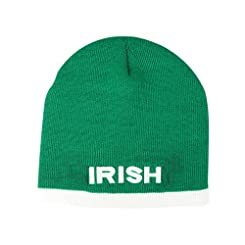 Knit Beanie Hat in Green with