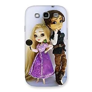 Ajay Enterprises Cutest Couple Multicolr Back Case Cover for Galaxy S3