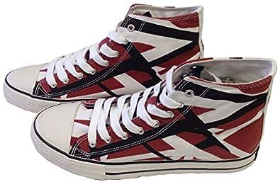 Authentic EVH EDDIE VAN HALEN Burgandy Red HI Top Shoes Sneakers Size 8.5 NEW