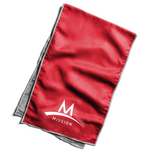Mission Athletecare Enduracool Varsity Towel, Red