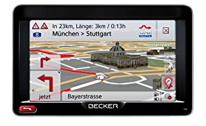 "BECKER Professional 50 LMU Sat Nav, 12.7 cm (5"") Display, Europe Maps (44 Countries), Lifetime Map Updates, SituationScan, OneShot Speech Dialogue System, Bluetooth, Black/Silver-Metallic"
